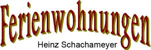 Ferienwohnung Schachameyer, Heinz Schachameyer, Logo